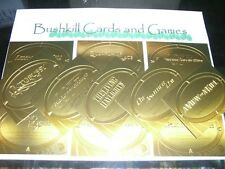 James Bond 50th Anniversary Series 2 - 11 Card Gold Plaque Embossed Insert Set