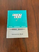 1969 Fiat 850 Factory owners Manual