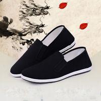 UK Men Chinese Kung Fu Tai Chi Martial Art Ninja Cotton Sole Slip On Flat Shoes