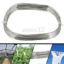304 Stainless Steel Bright Single Wire Rope 0.6mm Dia 1/4'' 100ft 30M/1181.1''
