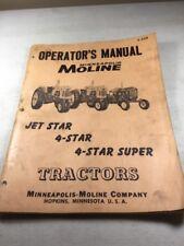 Minneapolis Moline Jet Star 4 Star 4 Star Super Operators Manual