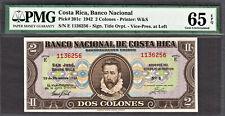 Costa Rica 2 Colones 1942 Pick-201c GEM UNC PMG 65 EPQ ONLY FINEST KNOWN !
