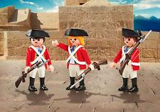 Playmobil 9886 3 Englische Soldaten Rotröcke Garde Neu OVP