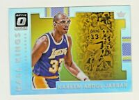 2017-18 Donruss Optic HALL KINGS SILVER PRIZM #1 KAREEM ABDUL-JABBAR Lakers HOF