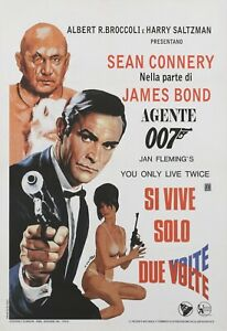 """YOU ONLY LIVE TWICE repro style B Italian poster 40x27"""" Sean Connery James Bond"""