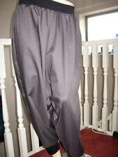Cotton Blend Harem Mid Rise Trousers for Women