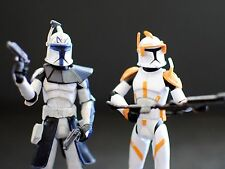 Star Wars Clone Wars CG Animated CW24 Captain Rex CW28 Commander Cody Figures