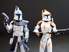 Star Wars Clone Wars CG Animated CW24 Captain Rex CW28 Commander Cody Figures
