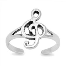 Adjustable Music Note Toe Ring Sterling Silver 925 Best Choice Jewelry Gift