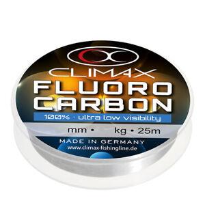 Climax Fluorocarbon 25m Vorfachschnur Schnur Angelschnur Vorfach Ockert Sehne