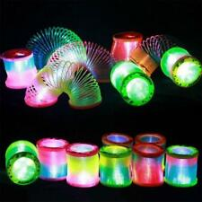 Creative Glow In Dark Spring Coil Slinky Toy Magical Rainbow Circle Children Toy
