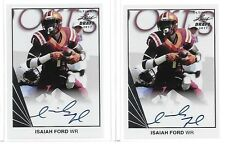 "2017 Leaf Ultimate ""1990"" Isaiah Ford Silver Foil RC Auto VA Tech WR"
