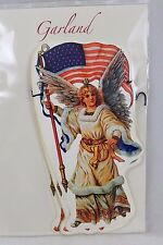 Usa Victory Angel Paper Garland 10 Feet 4th Of July Americana Patriotic Holidays