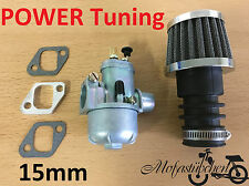 POWER TUNING Vergaser 15mm inkl. Sportluftfilter Spacer Hercules Prima M 2 3 4 5