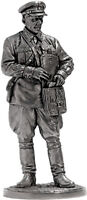 Tin soldier, figure. Politruk, infantry of the Red Army. 1939-42 the USSR 54 mm