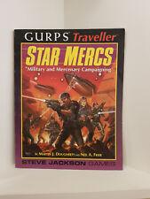 GURPS: (Traveller) Star Mercs, RPG Steve Jackson Games, Softcover