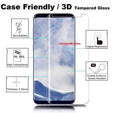 New 3D Samsung Galaxy S8 100% Genuine Tempered Glass Screen Protector Clear