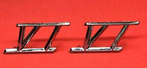 Lot Of 2 Studebaker Lark Fender Script VI Emblem 1959 1960 1961 #1332236 NOS