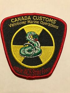 Canada Customs SNAKE patch police