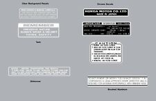 HONDA Z50  1973 WARNING LABEL DECAL SET K4  REPRO Z50A Soft Tail Z50J