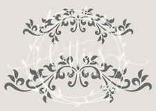 A5 STENCIL - HEADER FLOURISHES  Furniture Fabric Vintage French Shabby Chic ❤