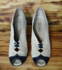 30s Vintage Shoes Peep Toe Oxford Style Vintage C.H. Baker Shoe Size 4