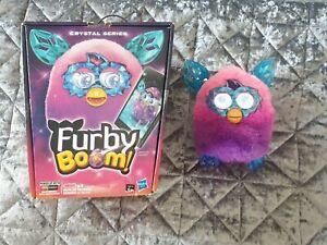 FURBY BOOM! CRYSTAL SERIES (Purple-Pink Fur & Blue Ears) FURBY IN BOX working