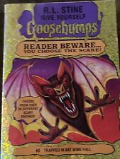 GOOSEBUMPS book R L STINE scGIVE YOURSELF GOOSEBUMPS #3 TRAPPED IN BAT WING HALL
