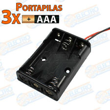 PORTAPILAS 3x AAA 4,5v con cable alimentacion PCB battery holder