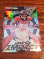 Bradley Chubb RC Card 2018 Prizm Instant Impact #4 Silver Prizm Denver Broncos