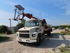 Mack CS250P Diesel Midliner Utility Flatbed Crane Truck 80' Boom bidadoo -Repair