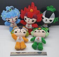 "Olympics 2008 Beijing China FULL SET of (5) 12"" Large Mascot Plush Rare"