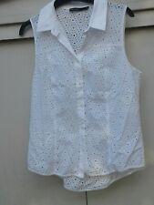 White KAREN MILLEN Anglaise S/Sleeve Blouse 12