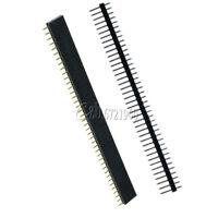 10PCS 2.54mm Male&Female 40pin Header Socket Single Row Strip PCB Connector Cool
