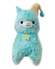 Kawaii Big Blue Pyjama Alpaca Plush Cute Fluffy Llama Night Sleepy Time 37cm