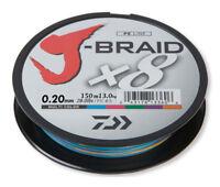 Cordon Tressé Daiwa J-Braid X8 150m/300m/1500m 3 Coloris Ligne de Pêche Stark