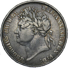 More details for 1821 crown - george iv british silver coin - nice