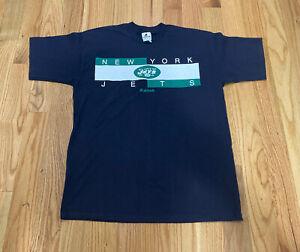 Vintage Riddell New York Jets 1998 NFL Graphic Tee T-Shirt Size Medium