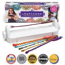 Loopdedoo Spinning Bracelet & Necklace Loom Craft Kit w/ 18 Skeins of Thread NIB