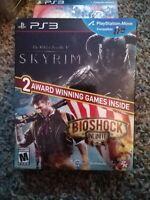 The Elder Scrolls V: Skyrim/BioShock Infinite (Sony PlayStation 3, 2014) New PS3