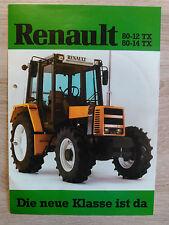 Original Renault Traktor Serie 80-12  TX  -  80-14 TX Prospekt