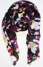 Echo Design Scarf Multi Color Women's Sheer Digital Flower Wrap