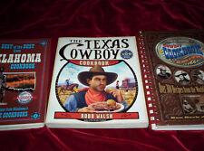 Lot 3 Cowboy Cookbooks Texas Cowboy All-American Cowboy Best of Best Oklahoma