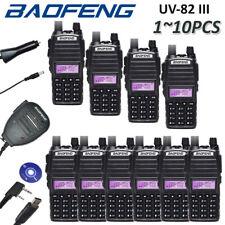 BAOFENG UV-82 III Tri-Band UHF/VHF Walkie Talkie FM Two Way Radio + Mic/Cable