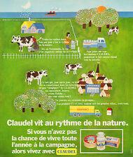 Publicité 1973  CLAUDEL fromage crème fraiche beurre