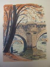 5/ AQUARELLE PARIS / Le pont Neuf