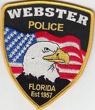 WEBSTER FLORIDA FL POLICE SHOULDER PATCH EAGLE FLAG