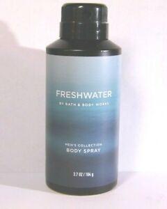 "Bath Body Works Men Collection ""FRESHWATER"" Body Spray Mist 3.7 Oz NEW Full Size"