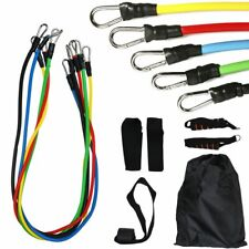 11PCS Resistance Bands Fitness Exercise Workout Tubes Gym Yoga Strength Training