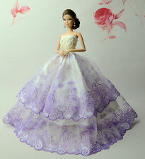 Fashion Royalty Princess Dress/Clothes/Gown For Barbie Doll S528